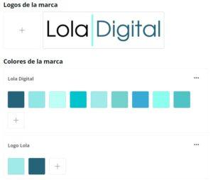 Kit de marca Lola Digital en Canva