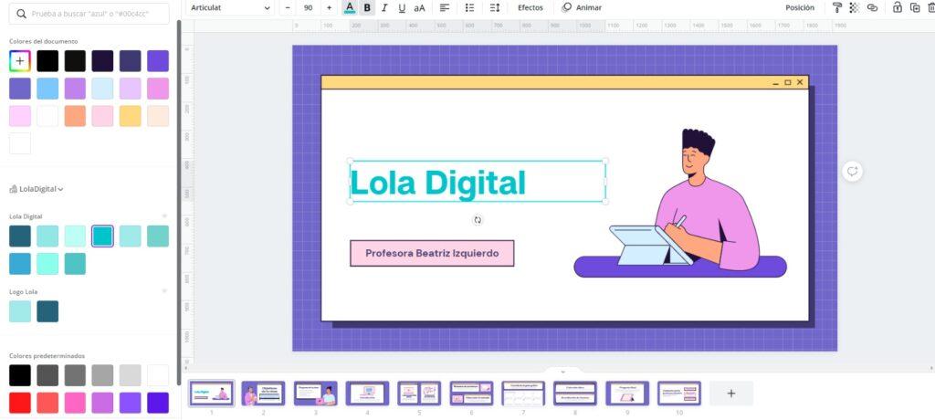 Todas las plantillas de Canva son personalizables, así que en pocos minutos tendrás una presentación  ajustada a tu branding