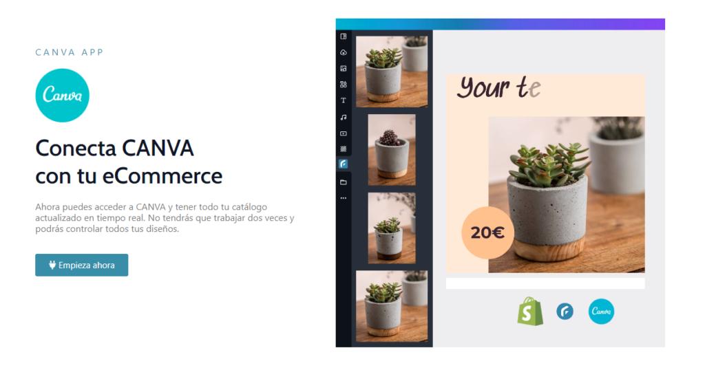 Conectar la app de Filkers en Canva es muy fácil y te ayudará a impulsar tu ecommerce