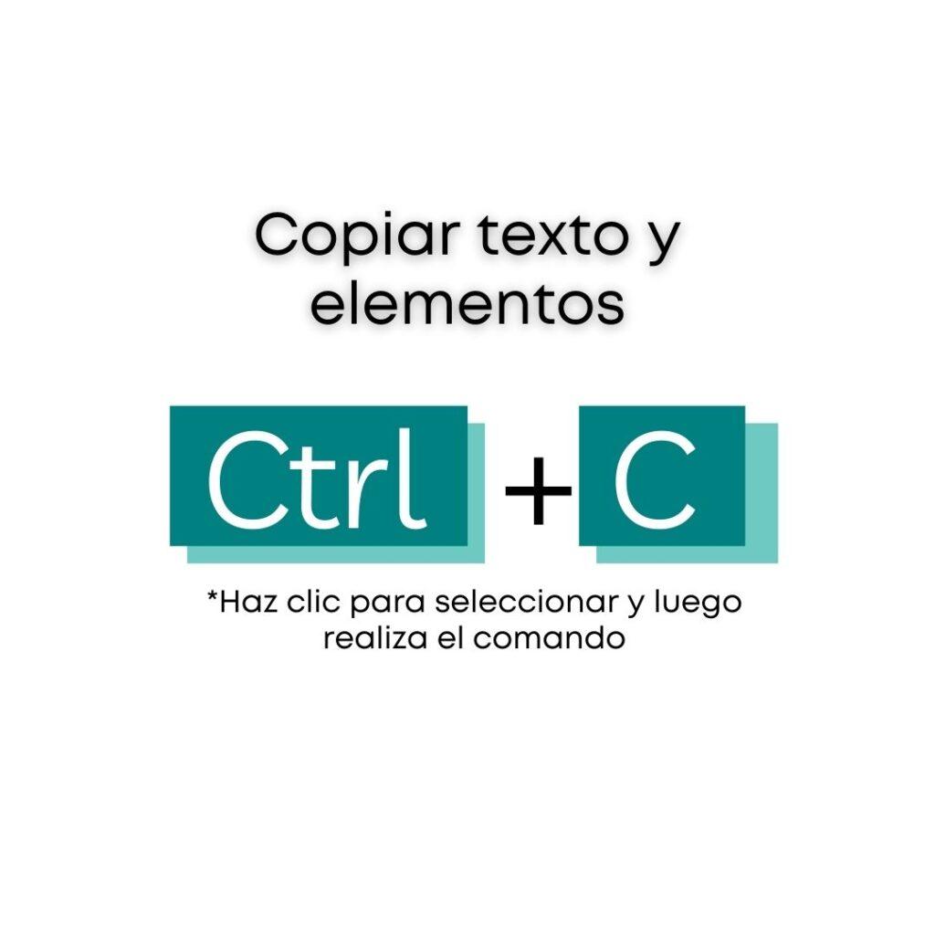 Atajos de Canva - Copiar textos y elementos