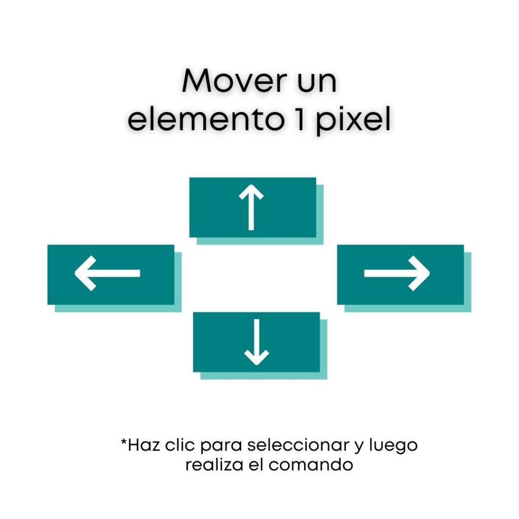 Atajos de Canva - Para mover los elementos 1 pixel