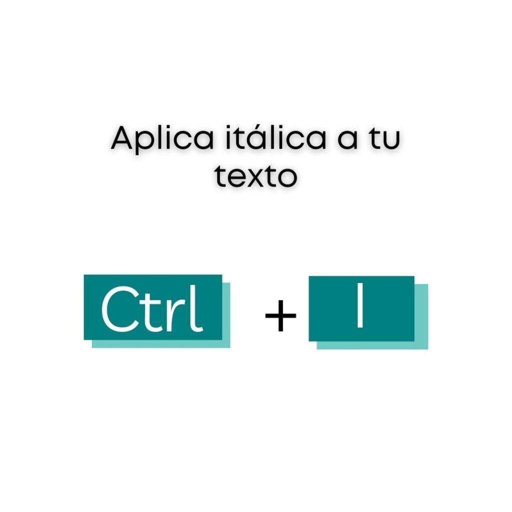 Atajos de Canva - Aplica itálica a tu texto